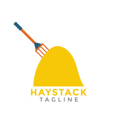 haystack graphic design element isolated vector image