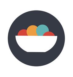 ice cream color balls in dessert bowl vector image