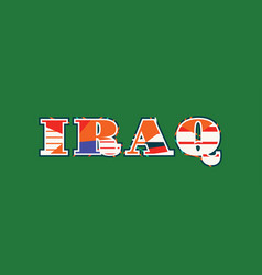 Iraq concept word art vector