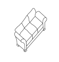 Isolated modern sofa vector