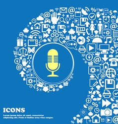 Microphone icon Nice set of beautiful icons vector