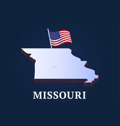 missouri state isometric map and usa national vector image