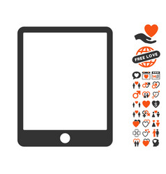 Mobile tablet icon with lovely bonus vector