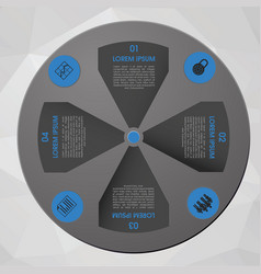 modern blue infographics in circle vector image