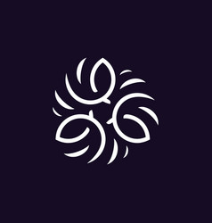 Modern professional logo ornament in black vector