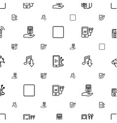 Mp3 icons pattern seamless white background vector