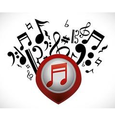 Music design vector image