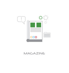 newsletter application magazine concept newspaper vector image