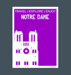 notre dame paris france monument landmark vector image