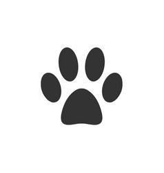 paw footprint logo icon design template vector image