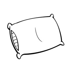 pillow simple line drawing vector image