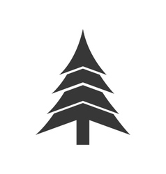 pine tree merry christmas icon graphic royalty free vector rh vectorstock com pine tree graphic png pine tree branch graphic