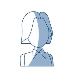 portrait woman cartoon female girl character vector image