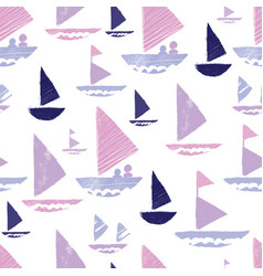 purple pink tribal boats repeat pattern design vector image