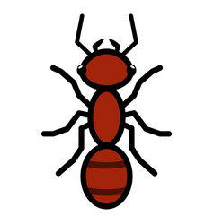 red ant logo symbol icon sign vector image