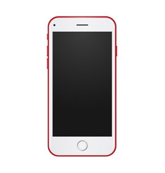 Red phone concept with empty blank screen to vector