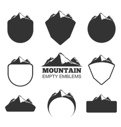 Retro mountain badges set vector