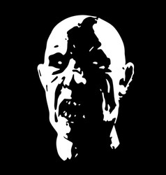 scary zombie face vector image