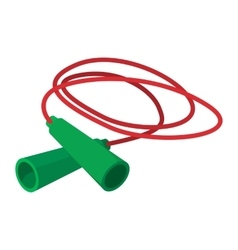 Skipping rope cartoon icon vector image