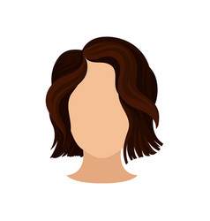 stylish women s haircut female head with short vector image