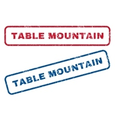 Table mountain rubber stamps vector