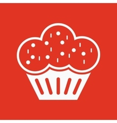 The muffin icon Dessert and baked cake bakery vector
