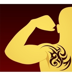 Tribal tattoo template vector image