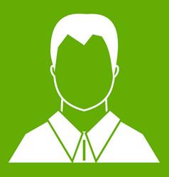 User icon green vector