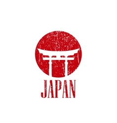 vintage with japan gate vector image