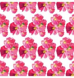 Watercolor flowers pattern vector image