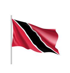 Waving flag trinidad vector