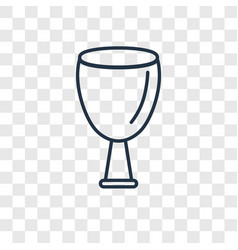 Wine concept linear icon isolated on transparent vector