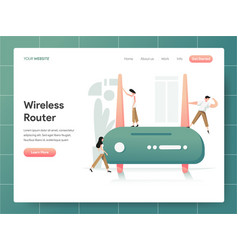 wireless router concept modern design concept vector image