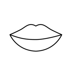 Womans lips icon vector