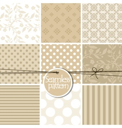 Colorful cute seamless patterns vector image vector image