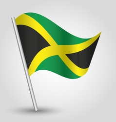 flag jamaica vector image vector image