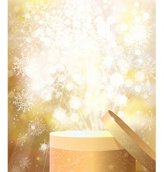 gold gift vector image vector image