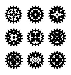machine gear wheel cogwheel set vector image vector image