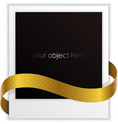 polaroid ribbon vector image vector image