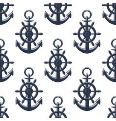 Sea anchors seamless pattern vector image
