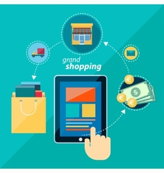 shoping flat icon vector image