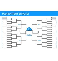 Tournament bracket vector