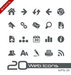 Web Navigation Basics Series vector image