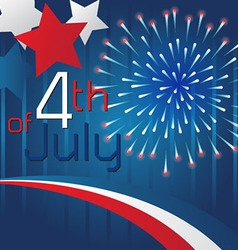 4th of July Background Template Design vector image vector image