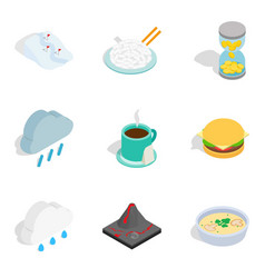 brumal icons set isometric style vector image vector image
