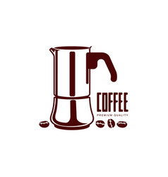 Coffee kettle flat icon isolated vector