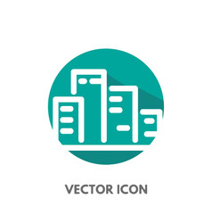 doodle city icon vector image