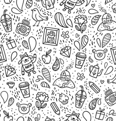 Fun doodle pattern vector image