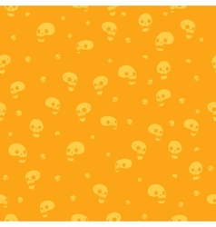 Halloween party skull background seamless pattern vector image