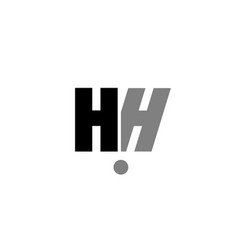 hh h h black white grey alphabet letter logo icon vector image vector image